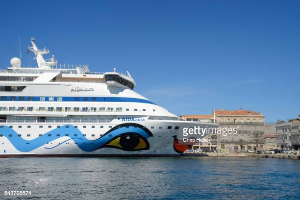 German Cruise Ship Aida Moored in Sète or Sete