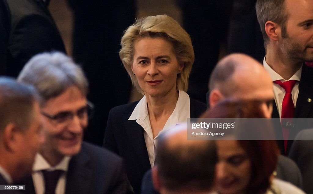German Defence Minister Ursula Von Der Leyen attends the 52nd Security Conference in Munich, Germany on February 12, 2016. The conference on security policy takes place from Feb. 12, 2016 until Feb. 14, 2016.