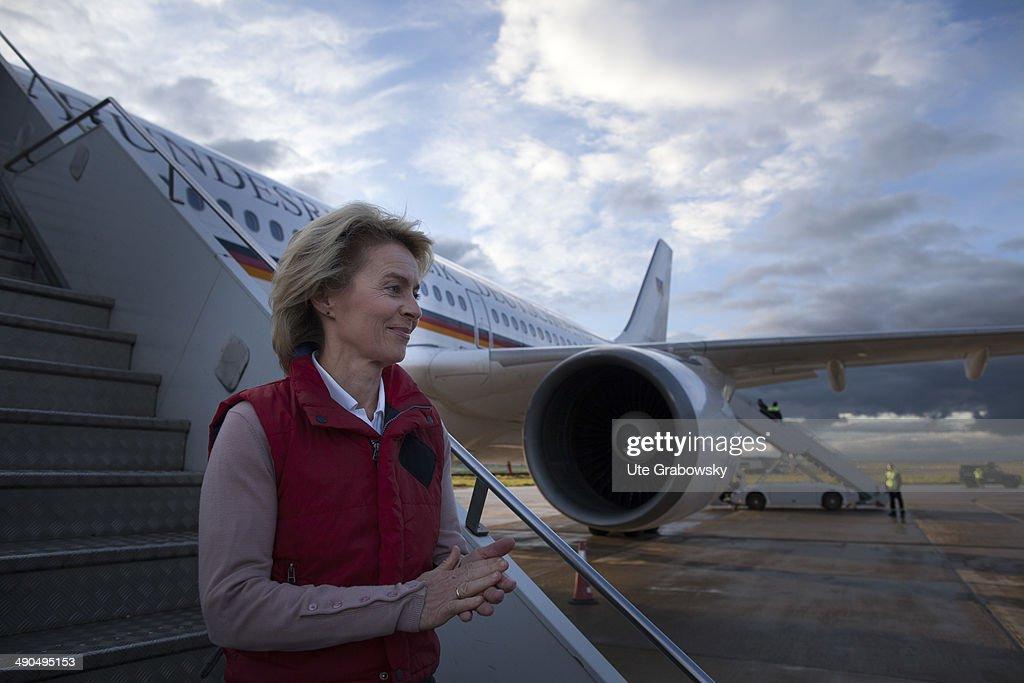 German Labor Minister Ursula von der Leyen visits Kosovo