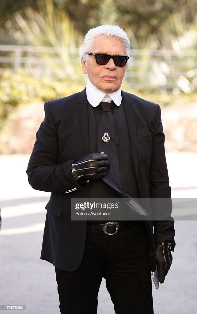German designer <a gi-track='captionPersonalityLinkClicked' href=/galleries/search?phrase=Karl+Lagerfeld&family=editorial&specificpeople=4330565 ng-click='$event.stopPropagation()'>Karl Lagerfeld</a> during the opening of the 30th International Festival Of Fashion and Photography on April 23, 2015 in Hyeres, France.This year <a gi-track='captionPersonalityLinkClicked' href=/galleries/search?phrase=Karl+Lagerfeld&family=editorial&specificpeople=4330565 ng-click='$event.stopPropagation()'>Karl Lagerfeld</a> is artistic director of the 2015 promotion.