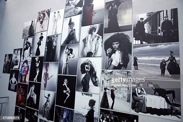German designer Karl Lagerfeld during the opening of the 30th International Festival Of Fashion and Photographie on April 232015 in Hyeres France...