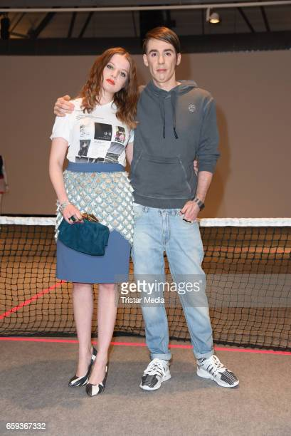 German designer Kilian Kerner and german actress Jella Haase attend the BIDI BADU by Kilian Kerner Presentation at Ellington Hotel on March 28 2017...