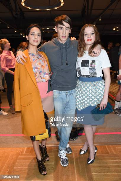 German designer Kilian Kerner german actress Gizem Emre and german actress Jella Haase attend the BIDI BADU by Kilian Kerner Presentation at...