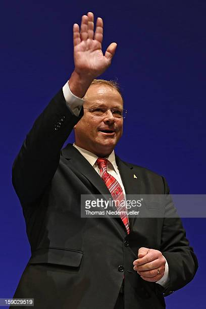 German Development Minister Dirk Niebel attends the annual Epiphany conference at the state opera house on January 6 2013 in Stuttgart Germany The...
