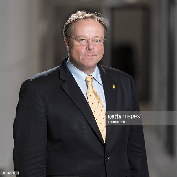 German Development Minister Dirk Niebel poses for a phototgraph on January 29 2013 in Berlin Germany