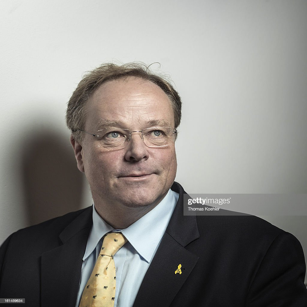 German Development Minister <a gi-track='captionPersonalityLinkClicked' href=/galleries/search?phrase=Dirk+Niebel&family=editorial&specificpeople=710721 ng-click='$event.stopPropagation()'>Dirk Niebel</a>, poses for a phototgraph on January 29, 2013 in Berlin, Germany.