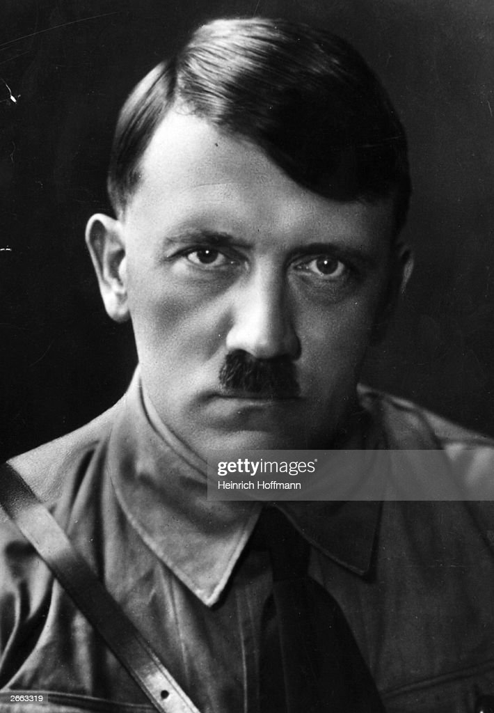 German dictator <a gi-track='captionPersonalityLinkClicked' href=/galleries/search?phrase=Adolf+Hitler&family=editorial&specificpeople=90219 ng-click='$event.stopPropagation()'>Adolf Hitler</a> (1889 - 1945).