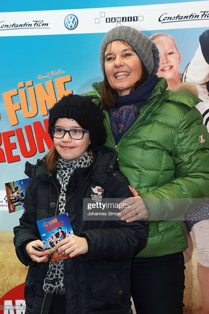German director and Oscar Prize winner Caroline Link and her daughter Pauline attend the 'Fuenf Freunde 2' movie premiere at CineMaxx Cinema on January 27, 2013 in Munich, Germany.