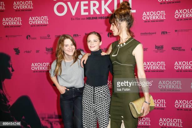German director Helene Hegemann Swiss actress Jasna Fritzi Bauer and Spain actress Araceli Jover attend the 'Axolotl Overkill' Berlin Premiere at...