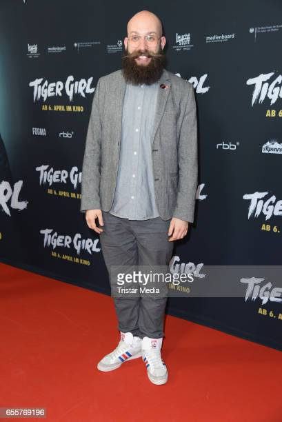 German director Jakob Lass attends the premiere of the film 'Tiger Girl' at Zoo Palast on March 20 2017 in Berlin Germany
