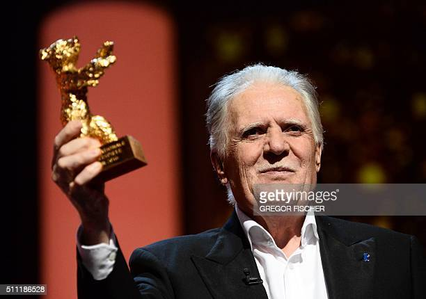 German director of photography Michael Ballhaus receives the 'Honorary Golden Bear' at the 66th Film Festival Berlinale in Berlin on February 18 2016...