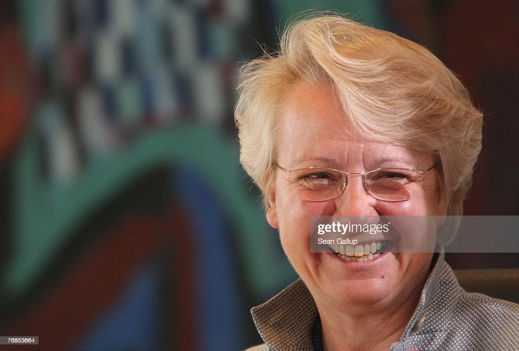 German Education Minister Annette Schavan arrives for the weekly German government cabinet meeting September 19 2007 in Berlin Germany The OECD...