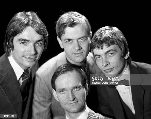 German electronic group Kraftwerk pose for a portrait circa 1975 in New York City New York