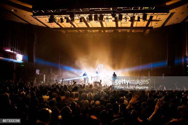 German electronica group Moderat performing live on stage at Brighton Dome in Brighton on April 7 2016