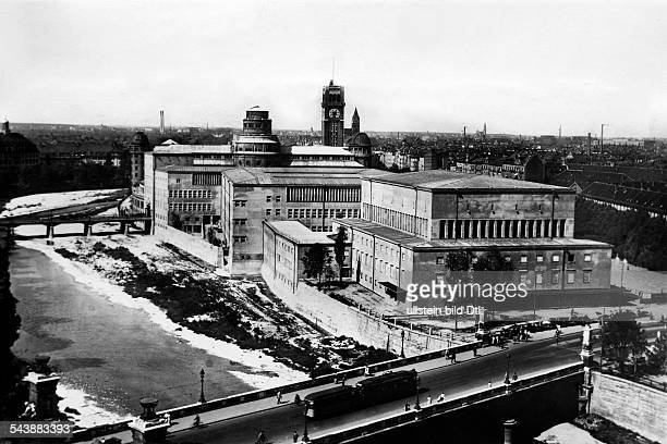 German Empire Bayern Koenigreich Muenchen Deutsches Museum new premises on a small island in the Isar river Photographer Sennecke 1931Vintage...