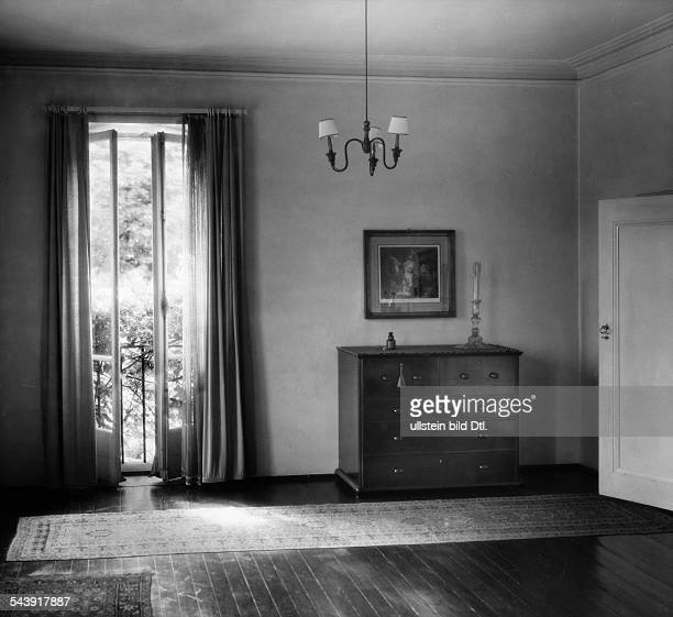 German Empire Free State Prussia Brandenburg Province Berlin Entrance to the house of Prof Emil Lettre room with a commode and a french balcony...