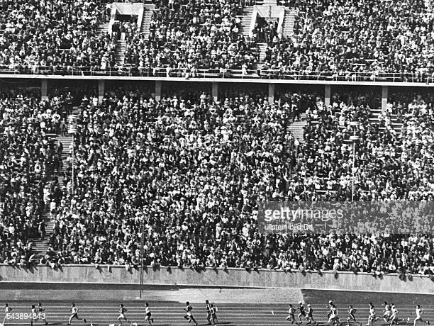 German Empire Free State Prussia Brandenburg Province Berlin Opening of the Olympic Summer Games crowded stands in the Olympic Stadium Photographer...