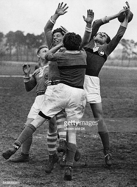 German Empire Free State Prussia Brandenburg Province Berlin rugby tournament SCC against Tennis Borussia Photographer Hans Henschke Published by...