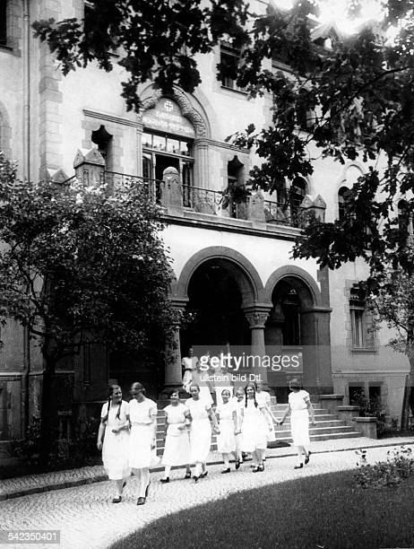 German Empire Free State Prussia Brandenburg Province Potsdam the Kaiserin Augusta girls' boarding school girls leaving the KaiserinAugustaStift for...