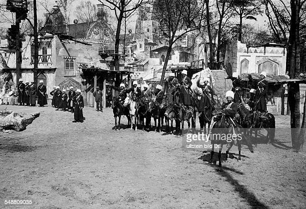German Empire Kingdom Prussia Berlin Berlin Zoological garden Berlin Circassians from the Caucasus region during an exhibition of members of exotic...