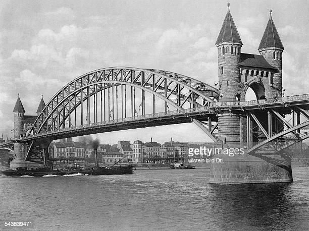 German Empire Kingdom Prussia RhineProvince Bonn Bridge arch Old Bridge above the Rhine river 1900 Photographer Stengel CoVintage property of...