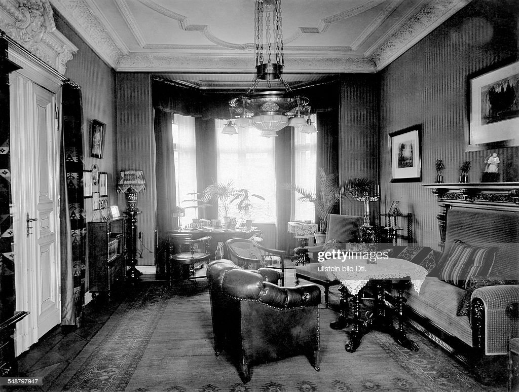 German Empire, old fashioned living room with furniture from ...