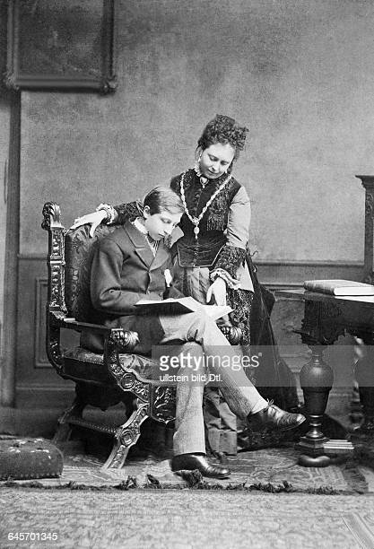 German Empress Queen of Prussia wife of the Wilhelm I German Emperor*21111840Portrait with her son Wilhelm von Preußen later the German...