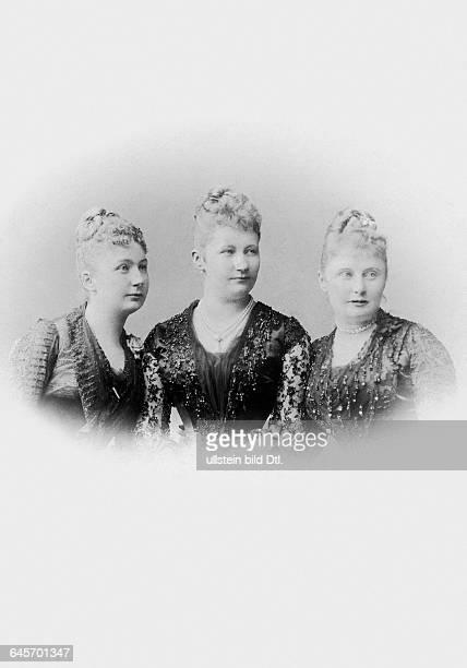 German Empress Queen of Prussia wife of the Wilhelm II German Emperor*22101858Portrait with her sisters Princess Karoline Mathilde of...