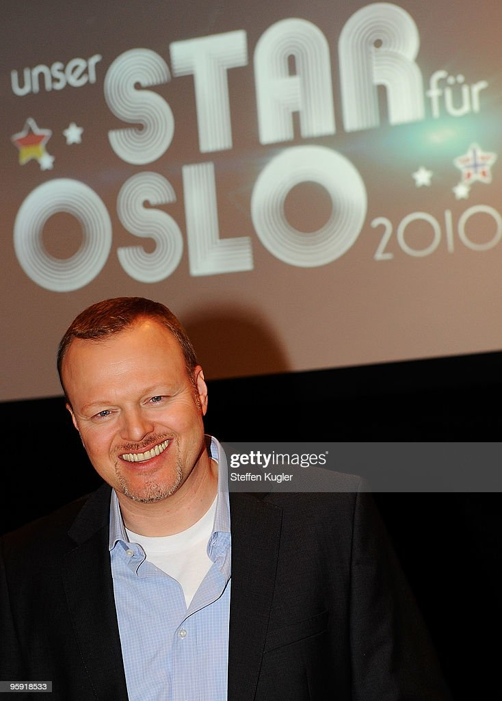 German entertainer Stefan Raab poses for photographers prior to a press conference on January 21, 2010 in Berlin, Germany. Starting February 2nd Raab will cast the German participants for the Eurovision Song Contest 2010 live in a tv-show.