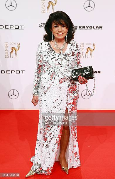 German entrepreneur Regine Sixt poses for photographers as she attends the Bambi awards on November 17 2016 in Berlin The Bambis are the main German...