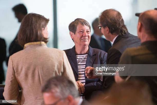 German Environment Minister Barbara Hendricks is seen prior to the weekly government cabinet meeting on August 16 2017 in Berlin Germany Today's is...