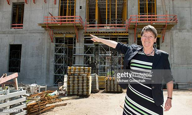 German Environment Minister Barbara Hendricks visits the construction site of Berlin Palace on May 20 2014 in Berlin Germany The palace has been...