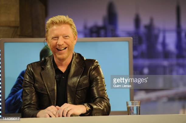 German extennis player Boris Becker attends 'El Hormiguero' Tv Show at Antena 3 Channel on May 9 2012 in Madrid Spain