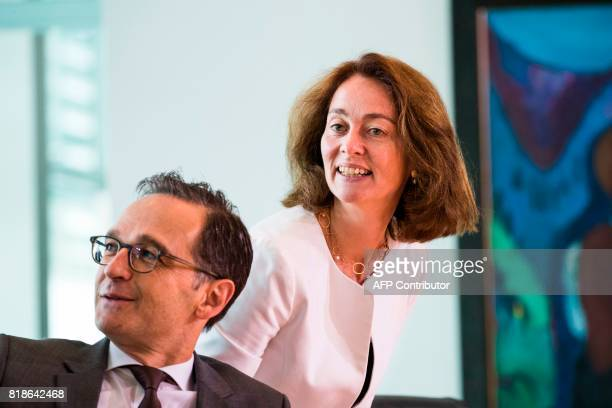 German Family Minister Katarina Barley and German Justice Minister Heiko Maas attend the weekly cabinet meeting at the Chancellery in Berlin on July...
