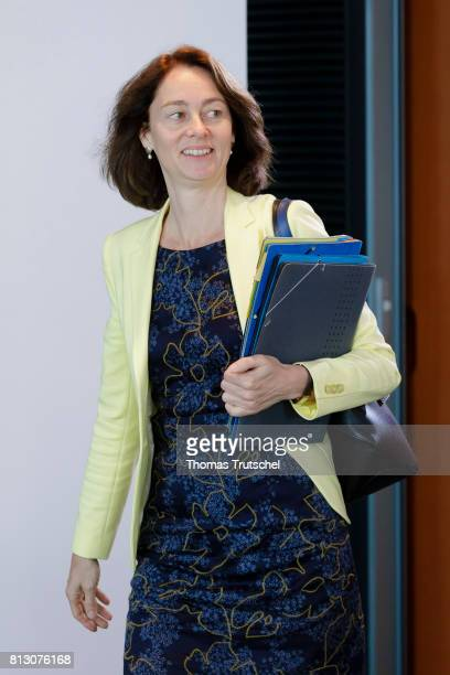 German Family Minister Katarina Barley arrives for the weekly cabinet meeting at the chancellery on July12 2017 in Berlin Germany