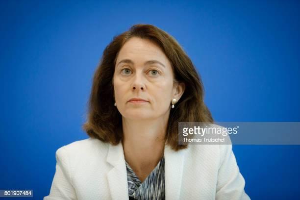 German Family Minister Katharina Barley speaks to the media on June 27 2017 in Berlin Germany
