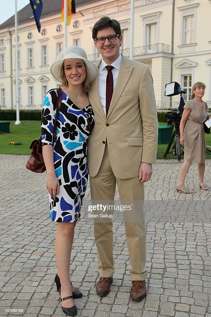 German Family Minister Kristina Schroeder and her husband Ole Schroeder attend the President's annual summer garden party hosted by newly-elected German President Christian Wulff and his wife First Lady Bettina Wulff at Schloss Bellevue on July 2, 2010 in Berlin, Germany. The party was Wulff's first official event as president following his confirmation ceremony earlier in the day.