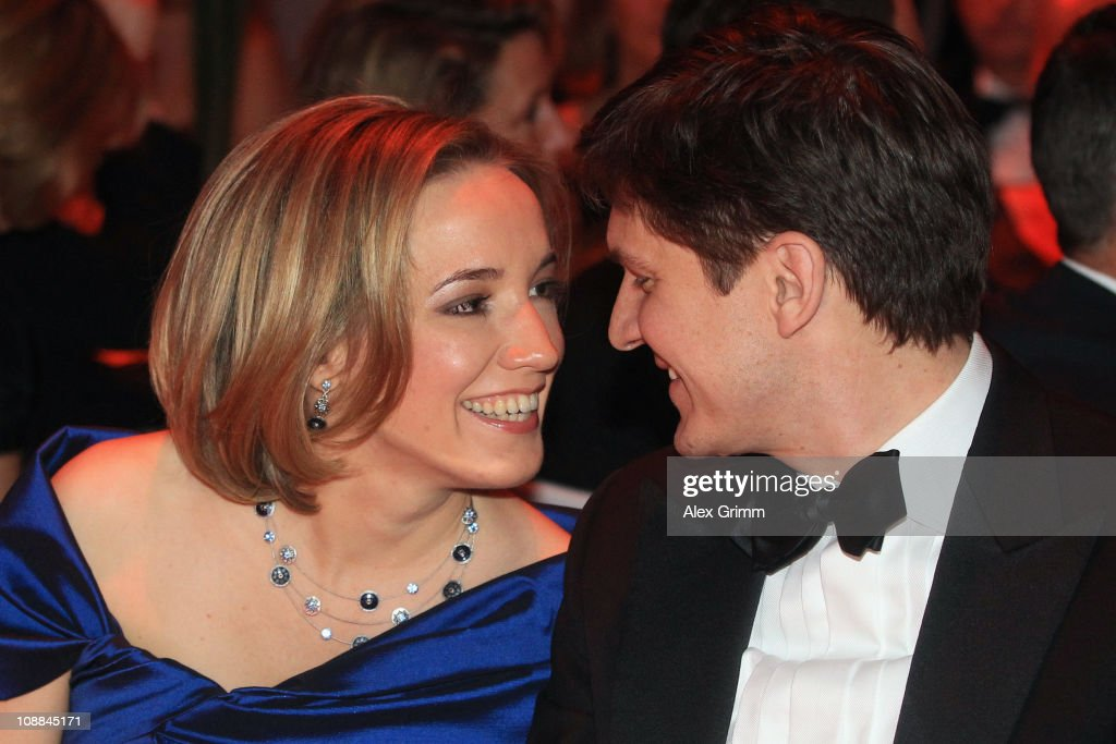 German Family Minister Kristina Schroeder and her husband Ole Schroeder sit togehter during the 20011 Sports Gala 'Ball des Sports' at the Rhein-Main Hall on February 5, 2011 in Wiesbaden, Germany.