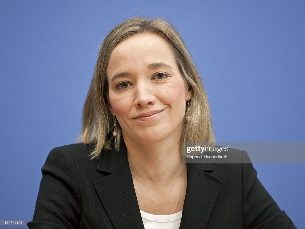 German Family Minister Kristina Schroeder during a press conference at Bundespressekonferenz on September 24, 2012 in Berlin, Germany. Kristina Schroeder presented the Monitor Family Life 2012.