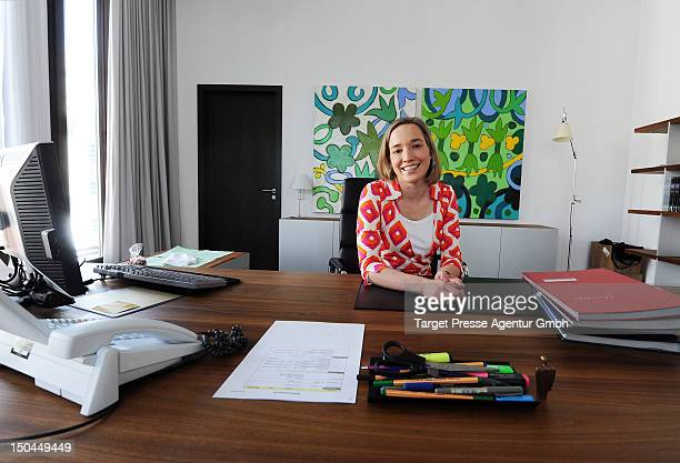 German family minister Kristina Schroeder in her office on open house day at the ministry of family on August 18 2012 in Berlin Germany