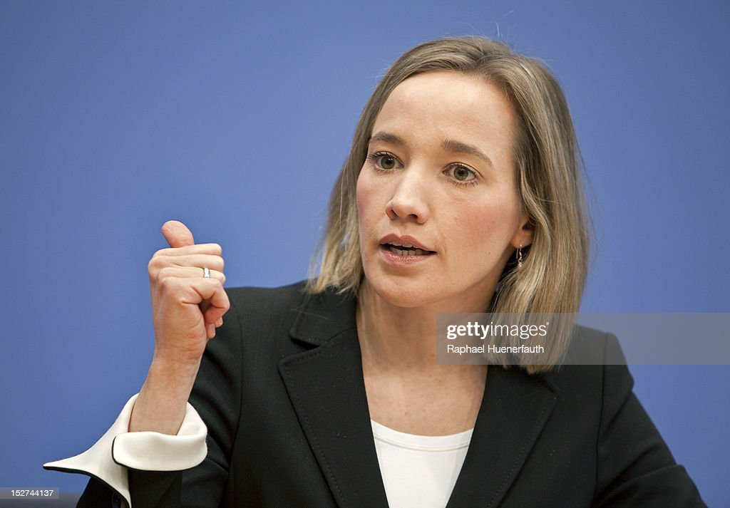 German Family Minister Kristina Schroeder speaks during a press conference at Bundespressekonferenz on September 24, 2012 in Berlin, Germany. Kristina Schroeder presented the Monitor Family Life 2012.