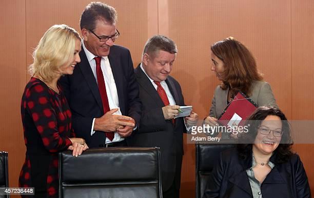 German Family Minister Manuela Schwesig German Development Minister Gerd Mueller German Health Minister Hermann Groehe German Immigration Minister...