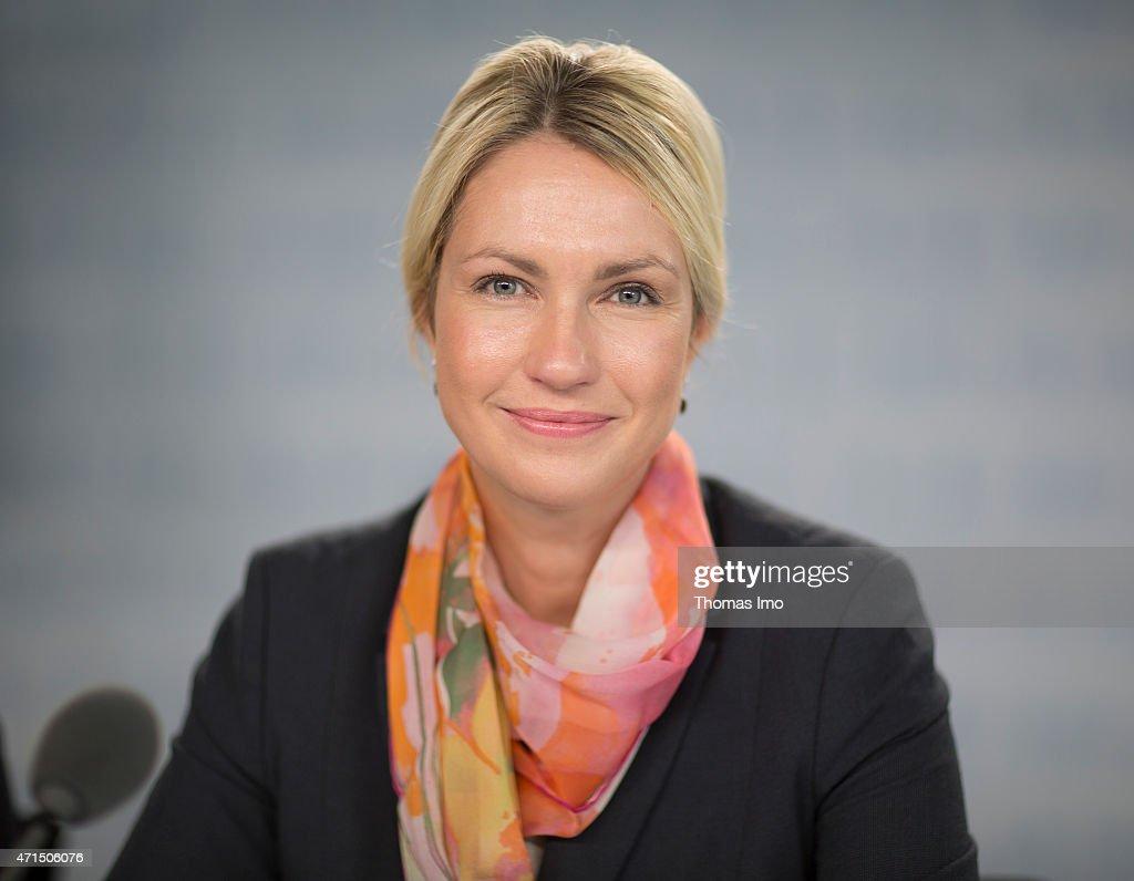 German Family Minister Manuela Schwesig speaks to the media at a pressekonferenz on April 29, 2015 in Berlin, Germany.