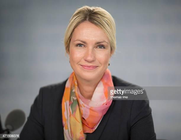 German Family Minister Manuela Schwesig speaks to the media at a pressekonferenz on April 29 2015 in Berlin Germany