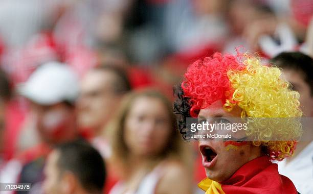 German fan shows his colours before the FIFA World Cup Germany 2006 Group A match between Germany and Poland at the Stadium Dortmund on June 14 2006...