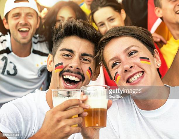 German Fans at the Stadium with Beer