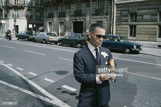 German fashion designer Karl Lagerfeld 1984