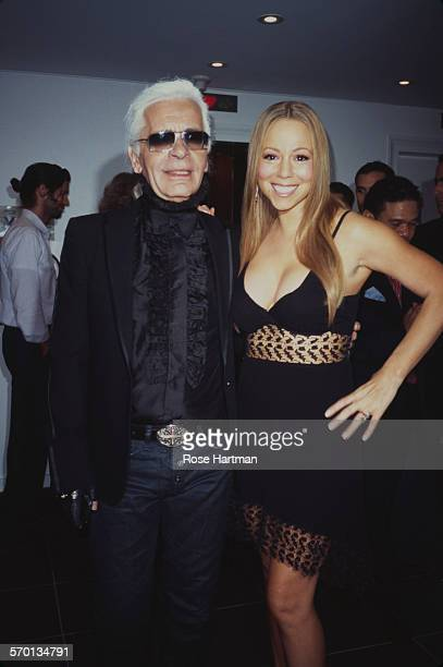 German fashion designer Karl Lagerfeld and American singer Mariah Carey USA circa 2000