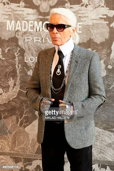 German Fashion Designer Karl Lagerfeld Head Designer And Creative Director Of French Fashion