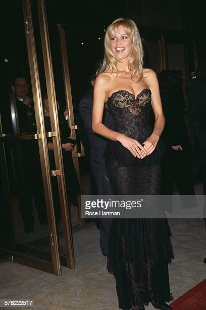 German fashion model Claudia Schiffer attends the 14th annual CFDA Fashion Awards New York City USA 1994